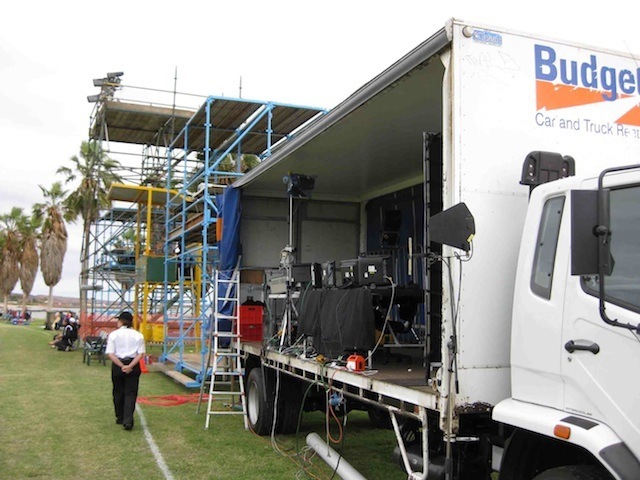 ABC Typical setup with Comms truck at Dampier 2010.jpg