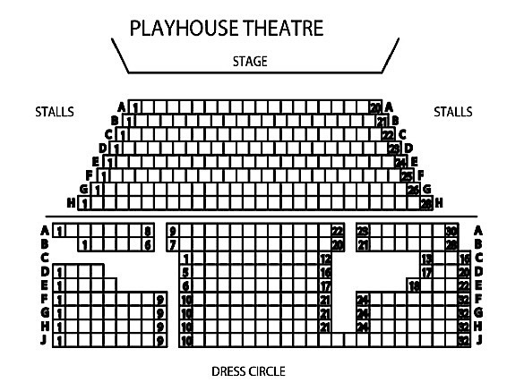 playhouse seating plan melbourne